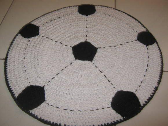 2e5d63e031 Tapete Bola de Futebol Artesanatos!!!   Sites Tapis foot !!!