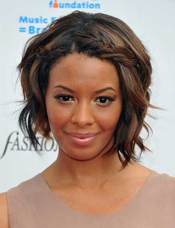 short bob black women hairstyles with long face and highlight also ...