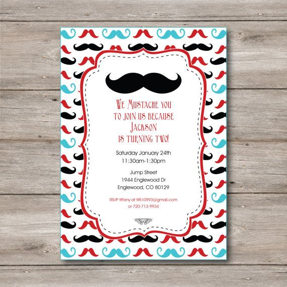 the 25+ best mustache party invitations ideas on pinterest, Party invitations
