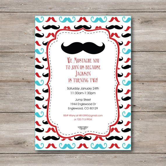 Best 25 Mustache party invitations ideas on Pinterest