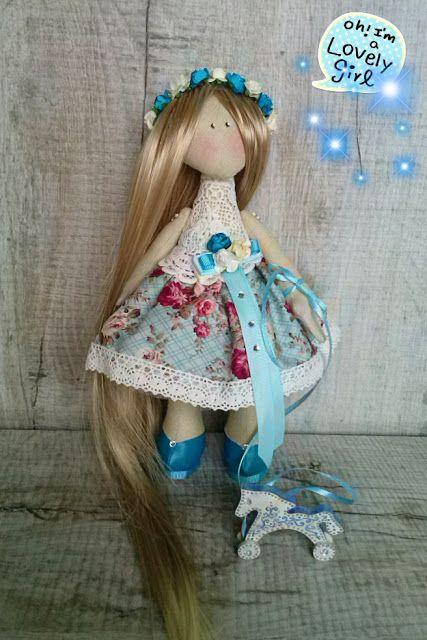 В каждой игрушке сердце.Подарки ручной работы от Ласкорунской Юлии.: Куколка с лошадкой