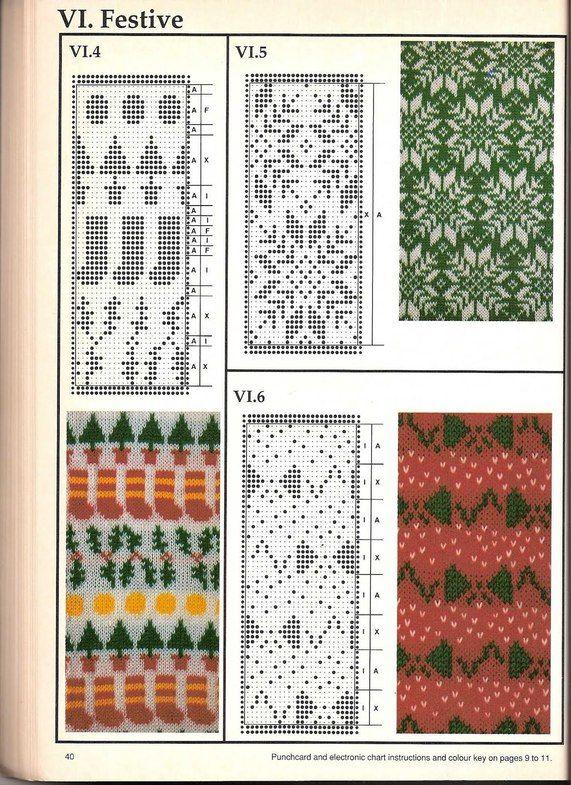 Машинное вязание - жаккард #39