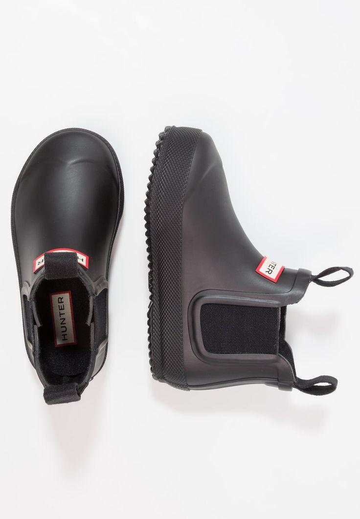 Bestill  Hunter FLAT SOLE CHELSEA - Gummistøvler - black for kr 719,00 (05.02.18) med gratis frakt på Zalando.no