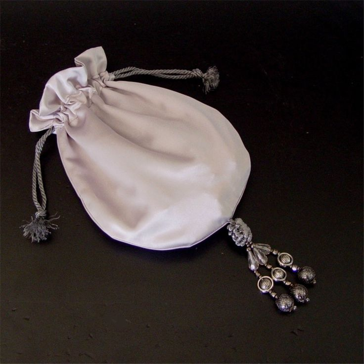 Silver Satin Evening bag Mother of the Bride purse formal hand bag by greenwillow on Etsy