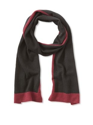 Cullen Men's Colorblock Scarf (Black/Bordeaux)