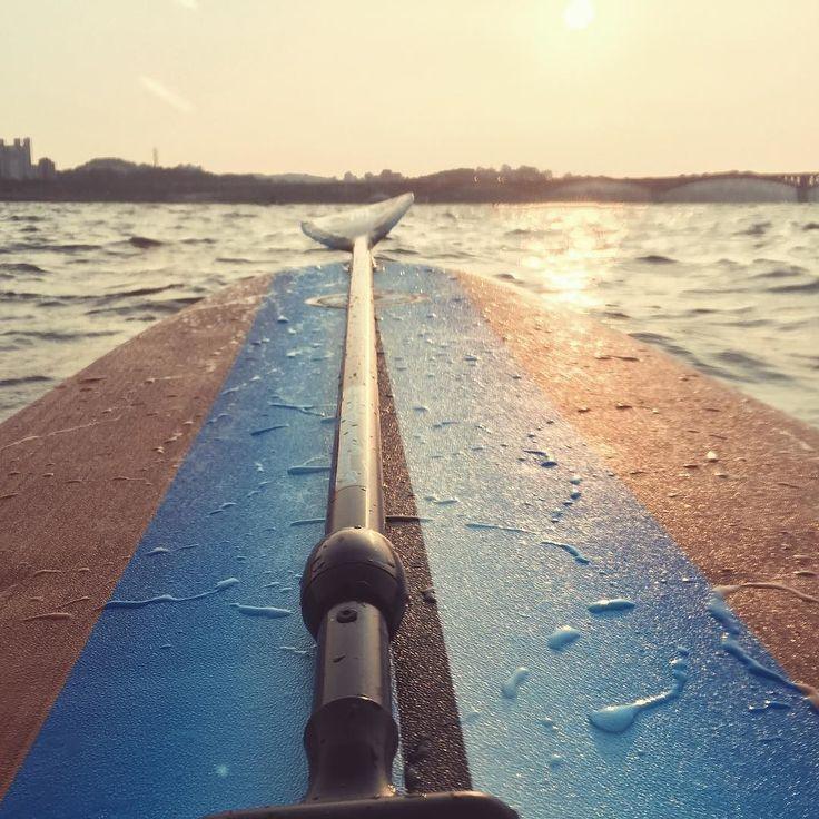 #SUP #paddleboard #한강 #노을