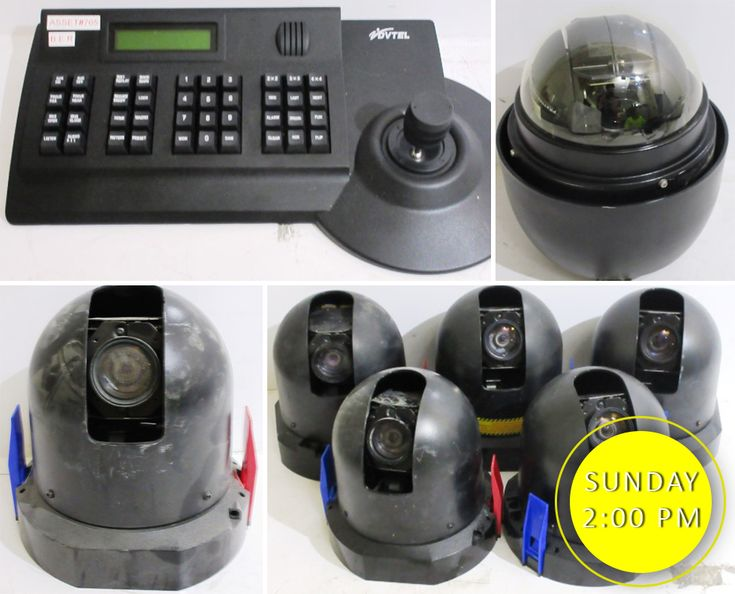 There is a HUGE range of security cameras, equipment and accessories online NOW in the Appliances, Electronics, Sporting and Leisure Online Auction. Get all your security equipment completely UNRESERVED this weekend