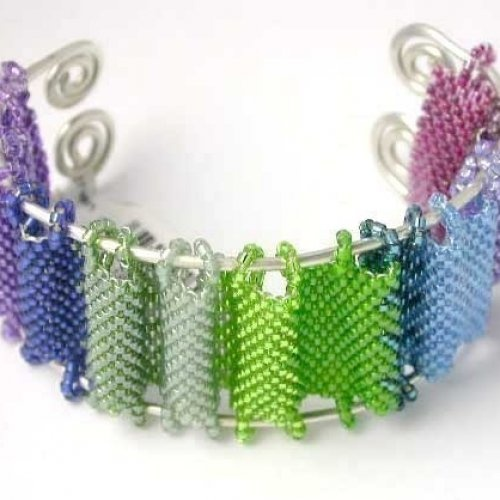 Beading Tutorial Peyote Stitch Japanese Screen Seed Bead Bracelet p......