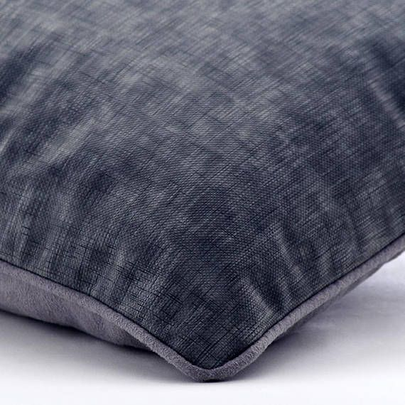 Textured Grey Throw Pillow Covers Solid Plain Pillow Leather