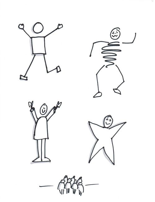 5 ways to draw stick figures - I could always use pointers for this