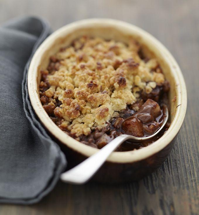 Crumble poire nutella - Ôdélices : Recettes de cuisine faciles et originales !