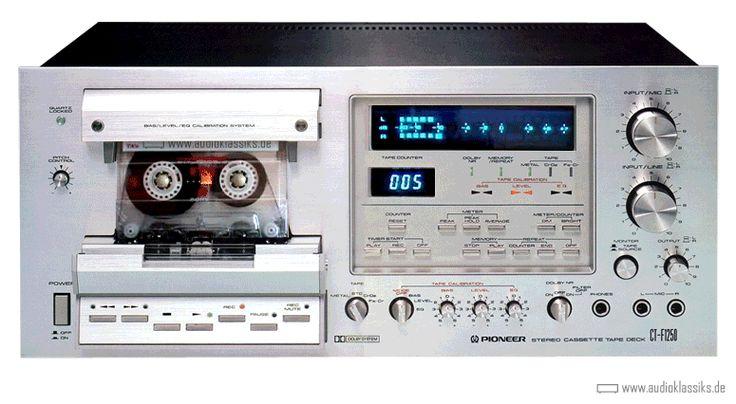 Deck Pioneer Stereo Cassette Recorder CT-F1250 Colabore euro80s - €URO 80's La Radio del Ítalo Disco © 2011-2016 euro80s.net