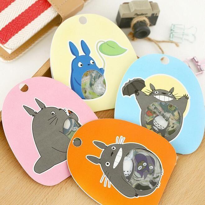 Japan Totoro Transparent PVC multifunctional sticker Scrapbook Deco sticker label office school supplies - free shipping worldwide