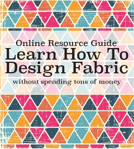 Anyone can learn to design your own fabric! Learn how (for free) and where to print! -AndreasNotebook.com