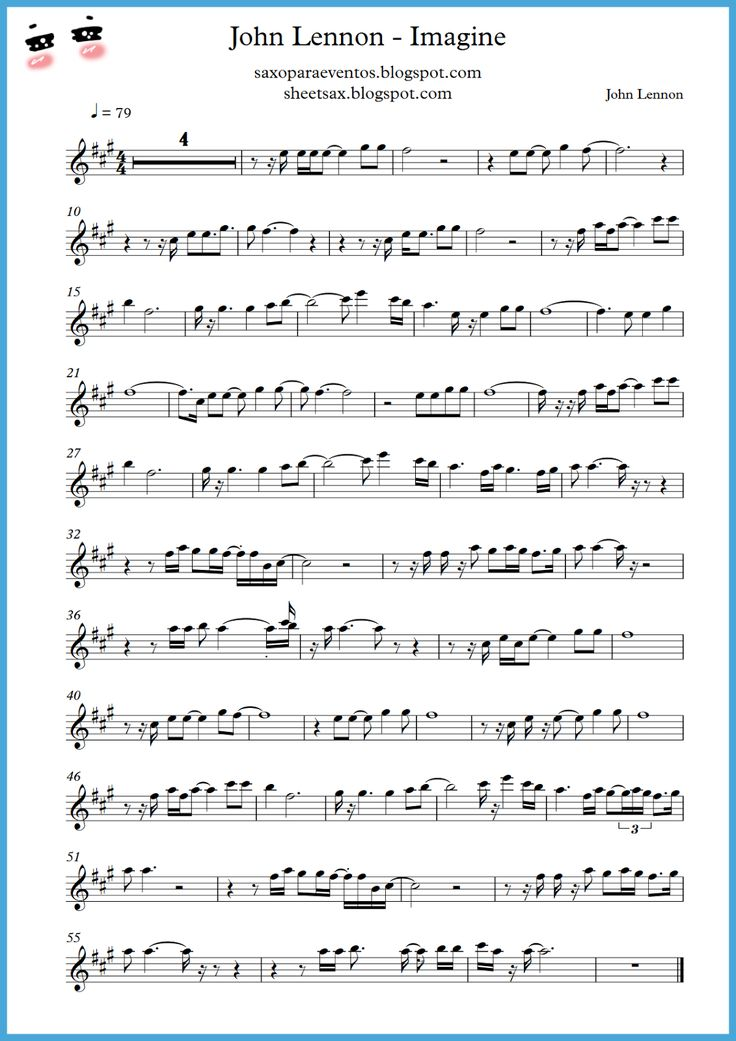 Imagine by John Lennon | John+Lennon+-+Imagine+-+Paritura+saxo+tenor,+trompeta,+clarinete.png