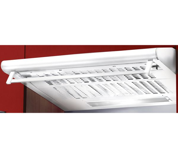 STD6.2W Visor Cooker Hood - White CURRYs