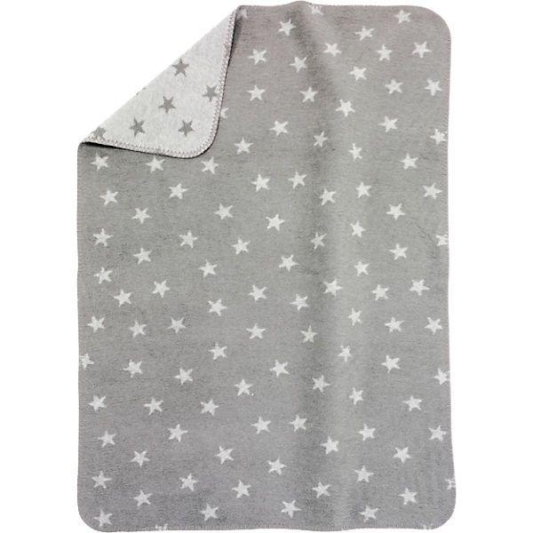 Babydecke, Sterne grau, 75 x 100 cm // myToys