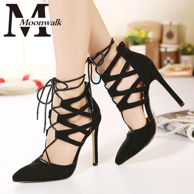 Гладиатор сандалии женщин зашнуровать 2016 Летний Стиль туфли на шпильках Высокие каблуки женщин Замкнутая Точка Носок обуви насосы X0628 купить на AliExpress