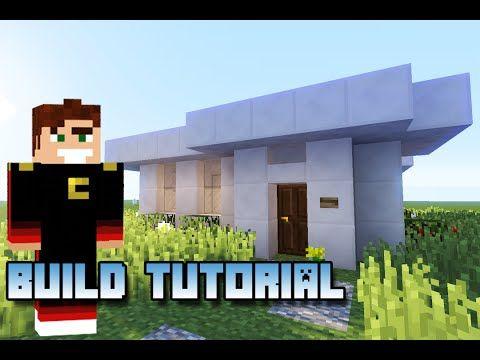 minecraft small modern house tutorial lets build small modern house fast and easy