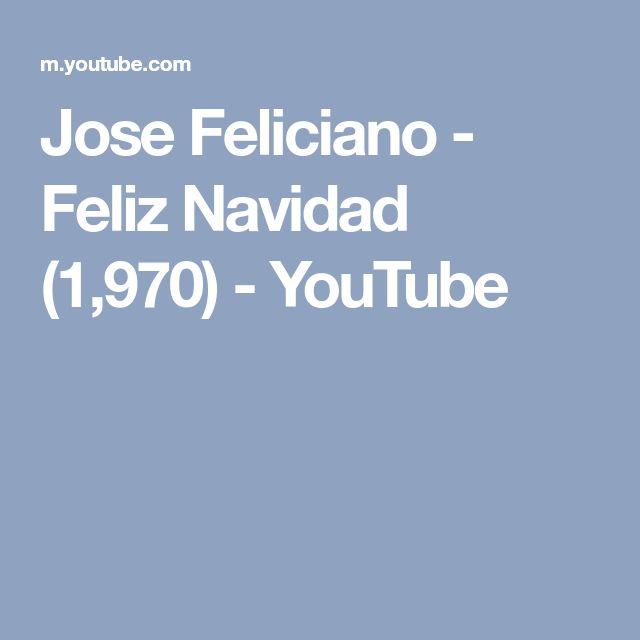 Jose Feliciano - Feliz Navidad (1,970) - YouTube