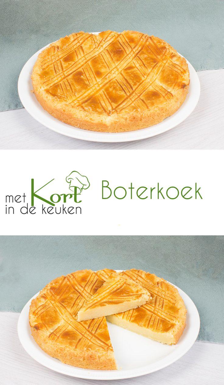 Recept voor een klassieke Hollandse boterkoek.  Wat heb je nodig:  300 gram bloem  300 gram boter  100 gram suiker  100 gram witte basterdsuiker 1 los geklopt ei  Klein snufje zout