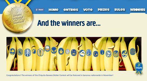 chiquita banana sticker contest: chiquita banana sticker contest
