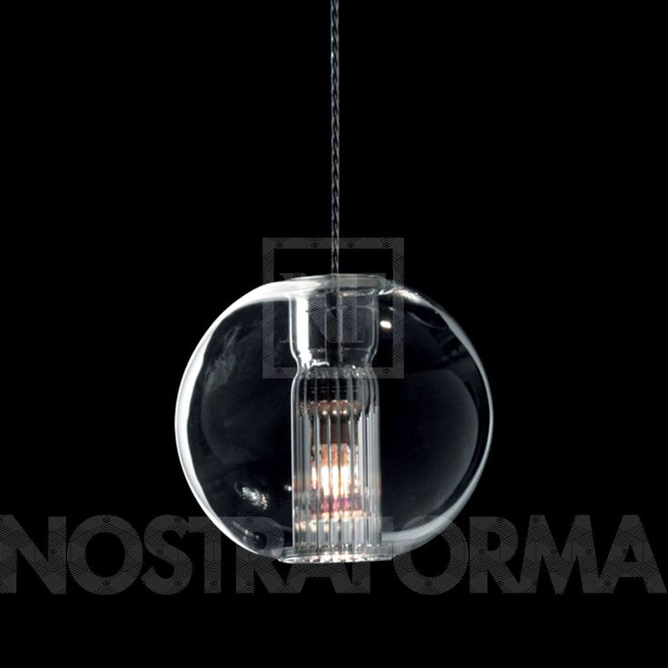 Leucos Fairy S S Pendant Lamp, With Spherical Diffuser