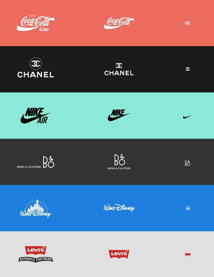 """Responsive Logos is a showcase of responsive logo designs that don't just resize. Instead, the composition of the logo changes completely at different sizes, becoming more or less complex as needed. For example, the Coca-Cola logo goes from the full logo complete with slogan to just """"Coke"""" written in script."""