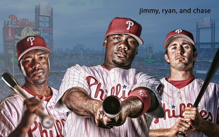 Jimmy Rollins, Ryan Howard and Chase Utley