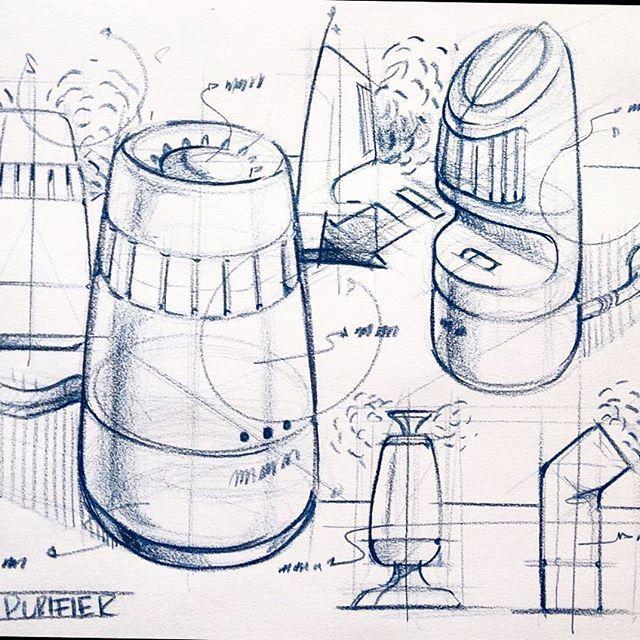 Air Purifier-- #idsketch #idsketching #designsketching #designsketch #conceptsketch #productsketch #designdrawing #weeklydesignchallenge #bluepencil #airpurifier #industrialdesign #idsketches #instasketch #productdesign #sketchaday #sketchbook