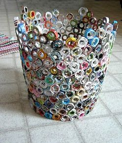 recycled craft ideas: Projects, Crafts Ideas, Bottle Cap, Paper, Art, Recycle Magazines, Baskets, Diy, Recycled Magazines