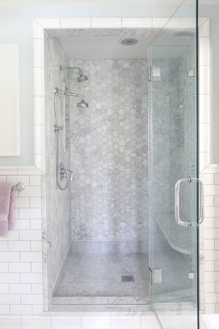 Marble Hexagon Shower By Design Manifest Bathroom