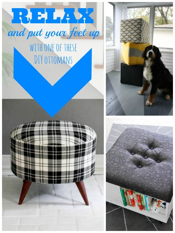 Diy ottomans for the home | remodelaholic.com