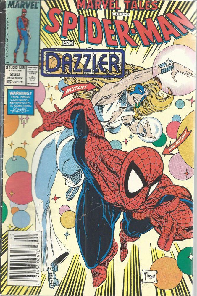Spiderman Marvel Tales Comic Dazzler Vol 1 No 230 Mid Nov 1989