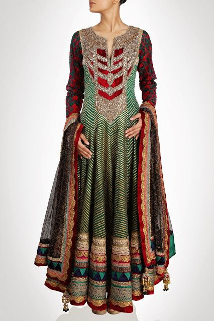 Royal Collection floor length anarkali suit in Green color – Panache Haute Couture http://panachehautecouture.co.in/collections/suits/products/royal-collection-floor-length-anarkali-suit-in-green-color