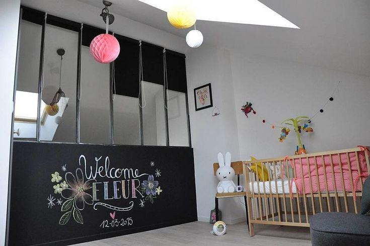 Отличная остекленная стена и мансардное окно в детской в стиле лофт. .