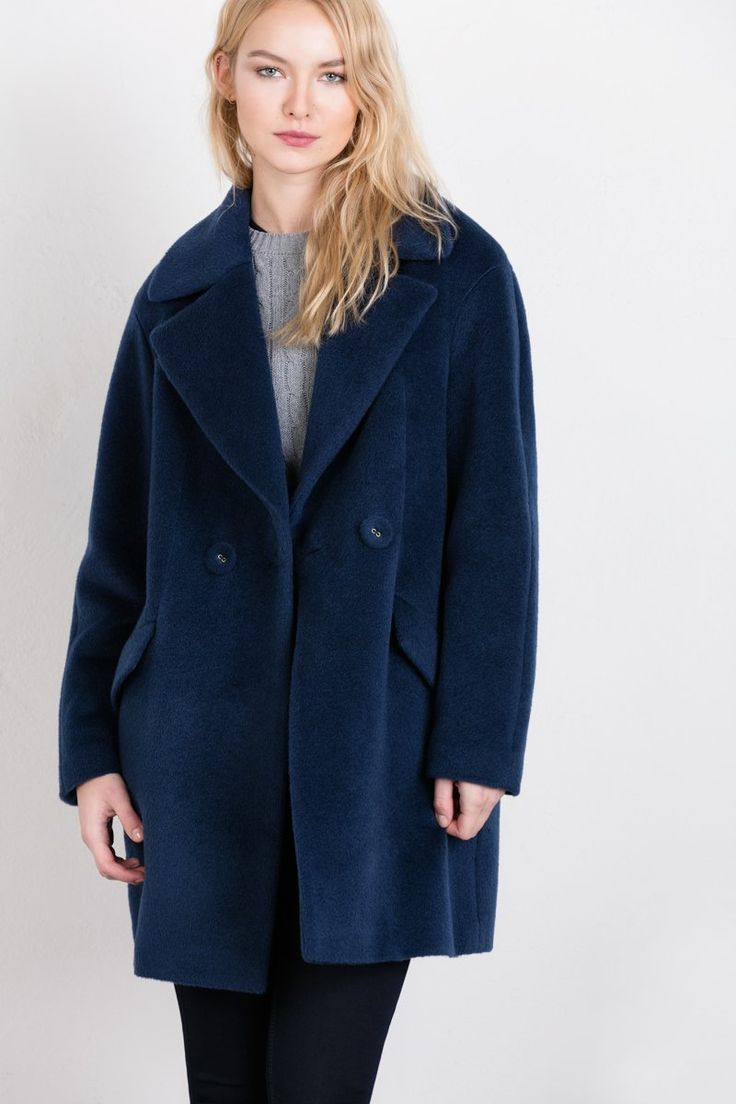 Styling with navy wool coat