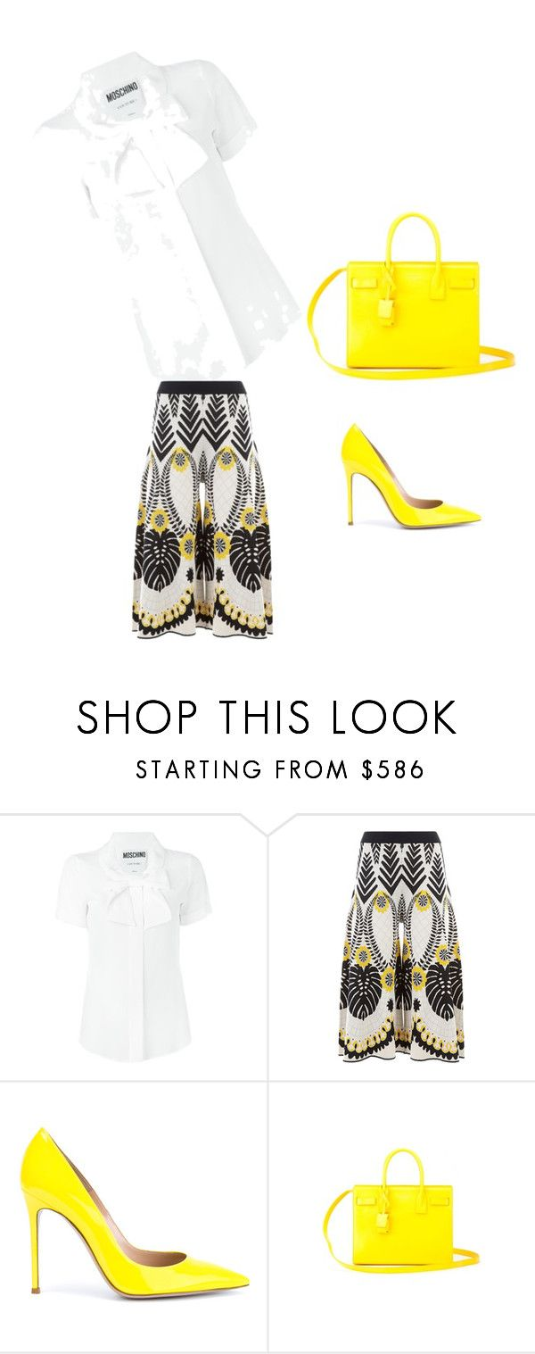 """Untitled #33"" by balog-viki on Polyvore featuring Moschino, Temperley London, Gianvito Rossi and Yves Saint Laurent"