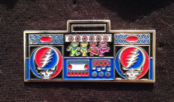 Grateful Dead pin boombox hat pin by jaidith on Etsy, $13.00