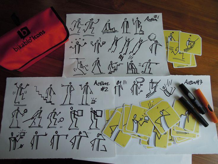 Bikablo Icons : Action 전체 - drawing