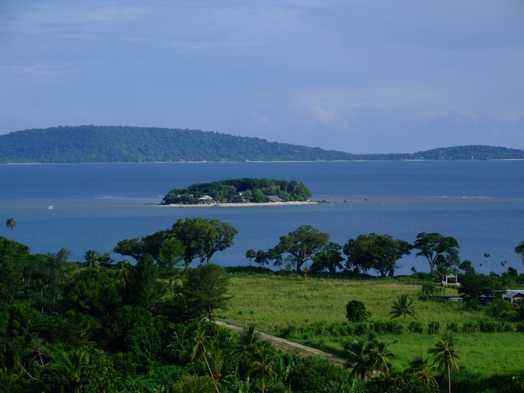 "Port Vila, Vanuatu 2008. The little island is called ""Hideaway island"" and this is where our hotel was"