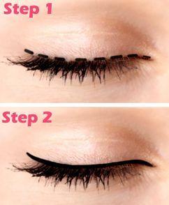 Easier eyeliner application guide.