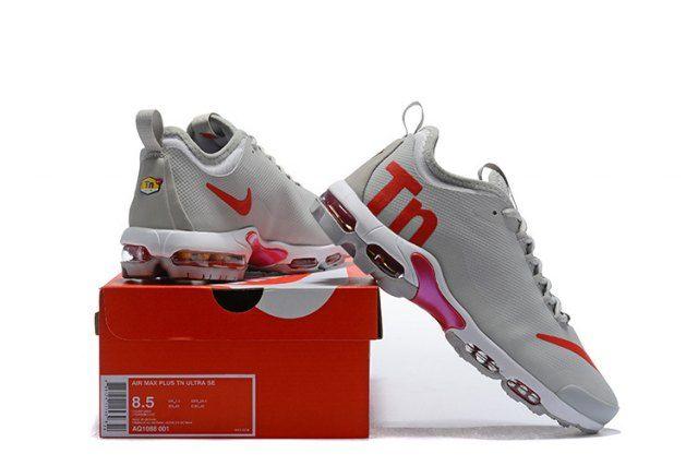 Nike Air Max Plus Tn Ultra Men s Running Shoes Grey Red  AQ1088-001 ... cde5d60285c3