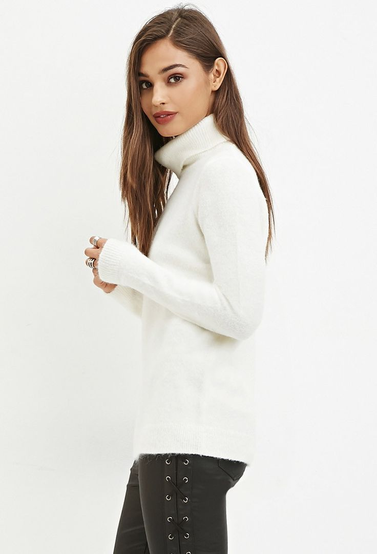 Fuzzy Turtleneck Sweater | Forever 21 Canada | • F21 • | Pinterest ...