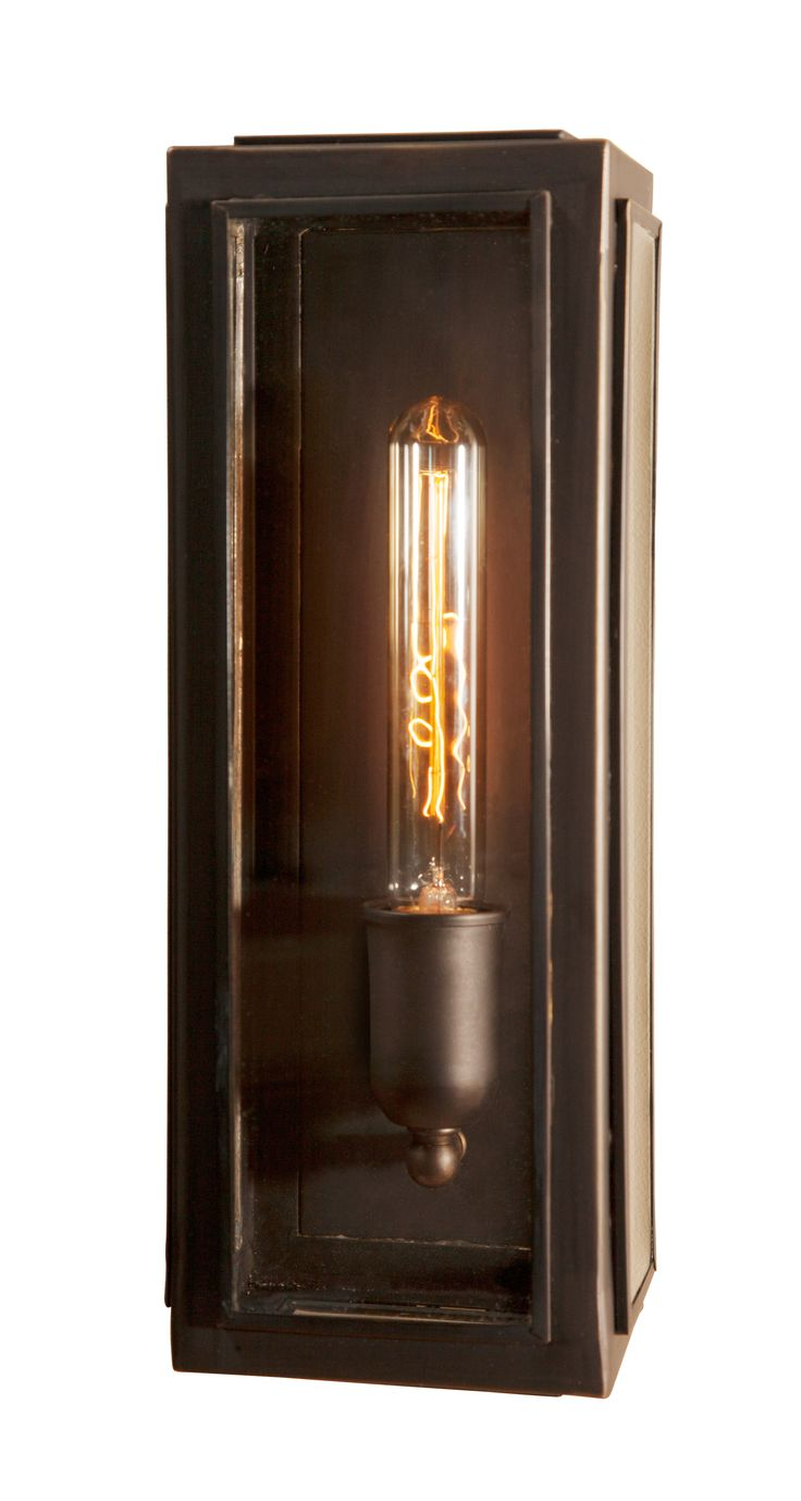 Bronze Lantern Style wall Light, perfect to go with long filament globes and give a mood light in your space.