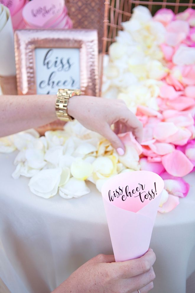 Absolutely Adorable DIY Petal Toss Bar For Your Wedding Ceremony