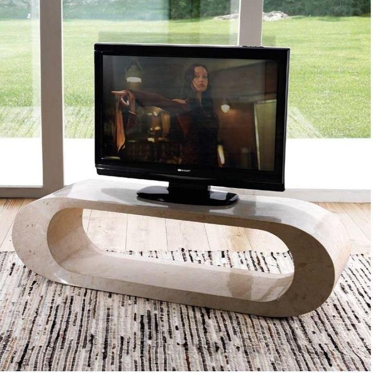 Porta TV Fossilstone bianco