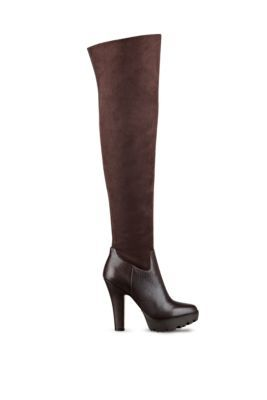 Clarey Contrast Over-the-Knee Boots   GUESS.com