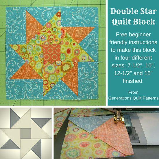 Double Star quilt block tutorial