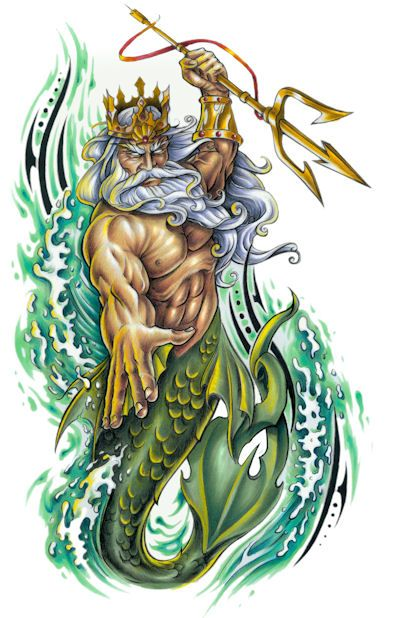 Image result for poseidon tattoo ideas